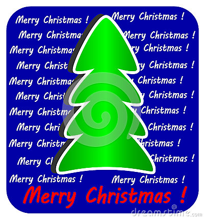 Modern Christmas Tree on blue background,