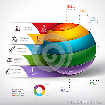 Free Modern Circle Ball 3d Staircase Diagram Business. Stock Images - 38943094