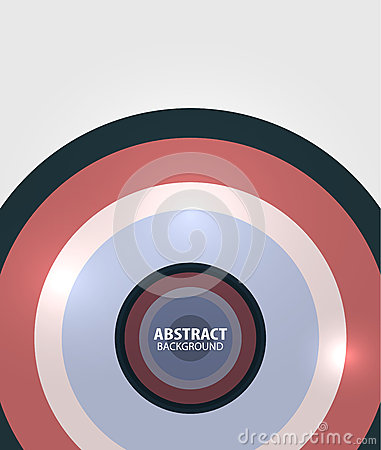 Modern circles minimal abstract background