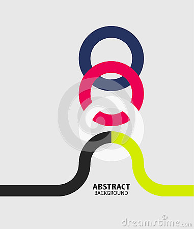 Modern circles minimal abstract background