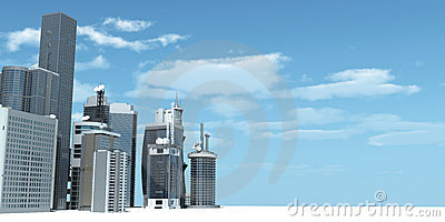 Modern City Stock Image - Image: 20059551