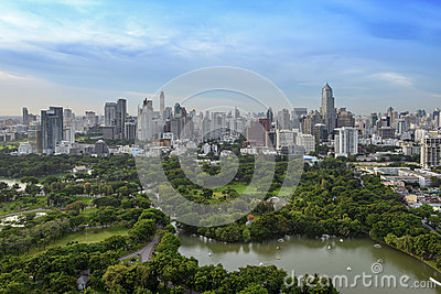 Modern city of Bangkok