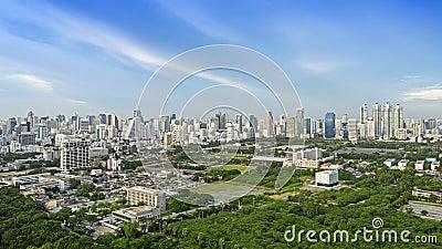 Modern city of Bangkok
