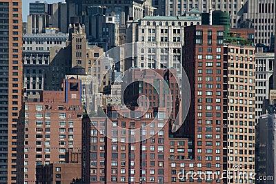 Modern city buildings