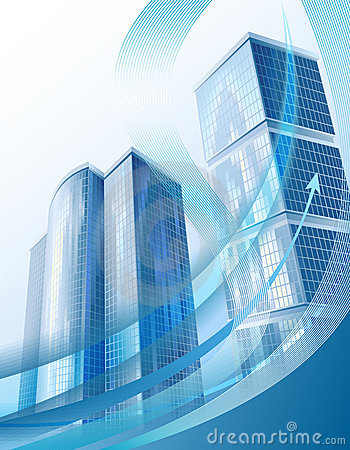 Free Modern City Buildings And Abstract Business Graph Royalty Free Stock Photography - 19484117