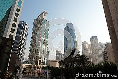 Modern city center