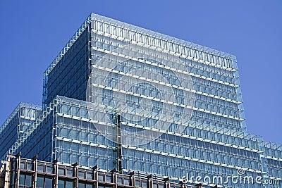 Modern City Glass Office Building