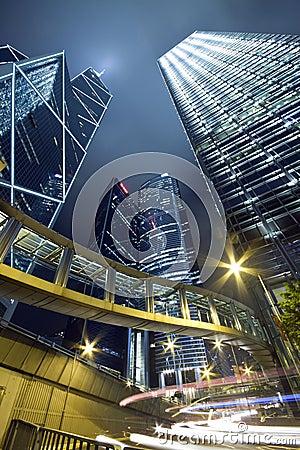 Modern City: Hong Kong Night Scene