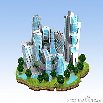 Modern City Miniature Concept