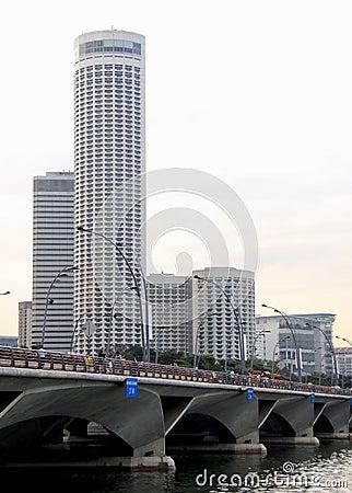 Modern city of singapore Editorial Stock Image