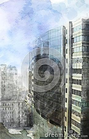 Modern city space