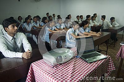 Modern Classroom Editorial Stock Image