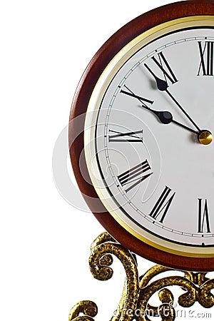 Modern clock face.