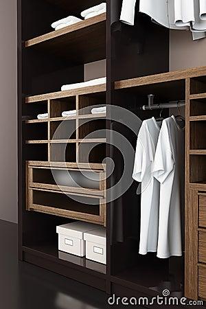 Modern closet 3d rendering