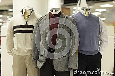 Modern clothed mannequins