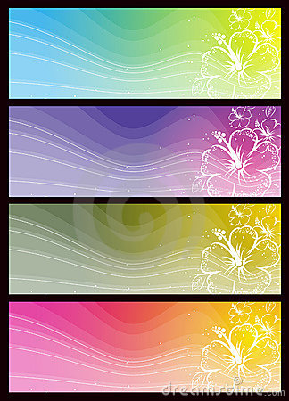 Modern  color banners, vector