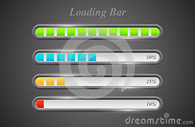 Modern color loading bars set