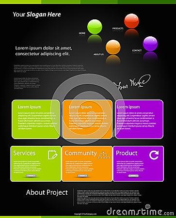 Modern color website template