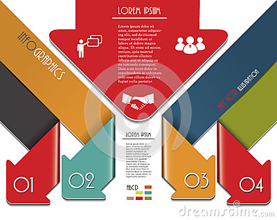 Modern colorful arrows for Infographics template.