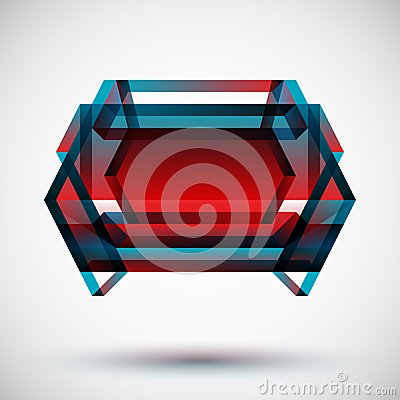 Modern colorful badge with light background