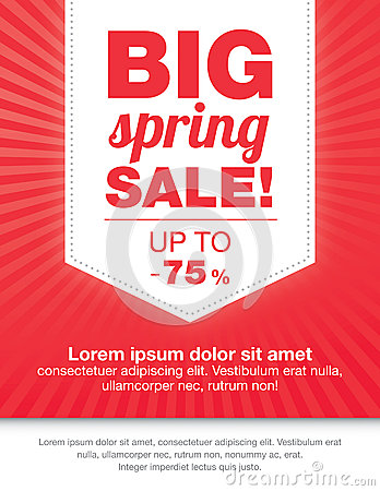 Modern Colorful Sale Flyer Royalty Free Stock Images