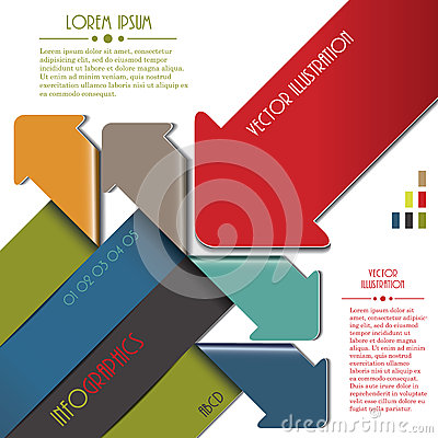 Modern colourful arrow for Infographics template