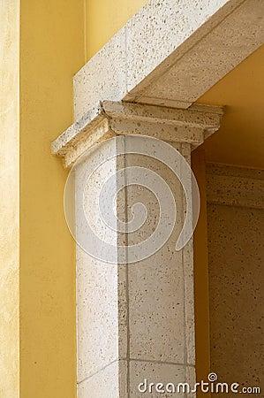 Modern column architectural detail