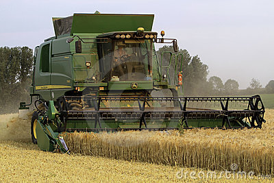 Modern Combine Harvester Editorial Stock Photo