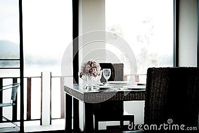 Modern comfortable hotel room.