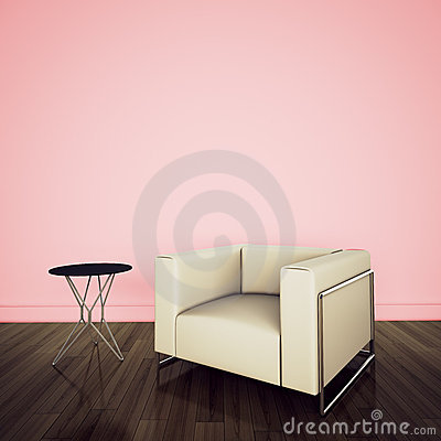 Modern comfortable interior with 3d rendering