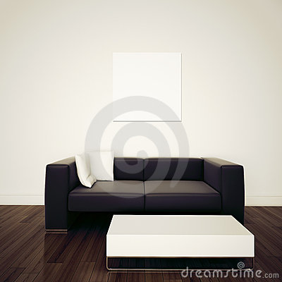 Free Modern Comfortable Interior With 3d Rendering Stock Photos - 22093183