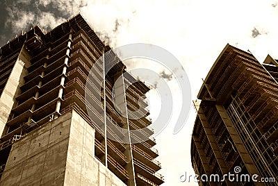 Modern commercial construction development