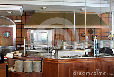 Modern commercial kitchen