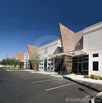 Modern commercial retail outlet facility royalty free for Modern retail building design