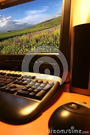 Modern computer.