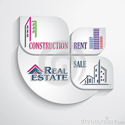 Modern concept for real estate business. Design template.
