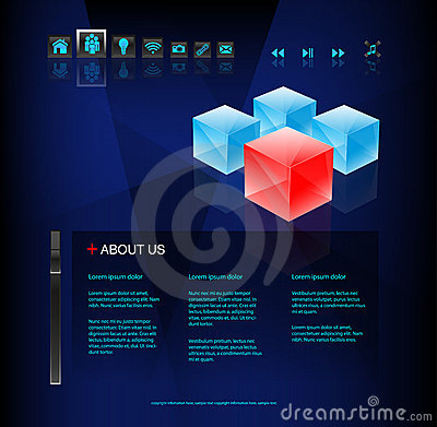 Modern conceptual business website