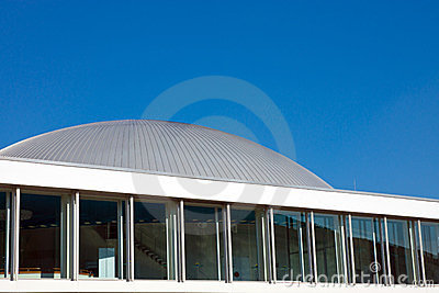 Modern construction with a cupola