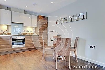 Modern contemporary breakfast kitchen