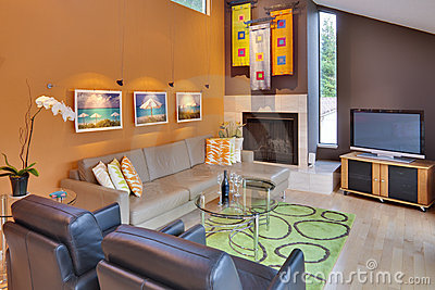 Modern / Contemporary Family Room