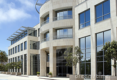 Modern corporate office building