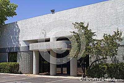 Modern corporate office building entrance