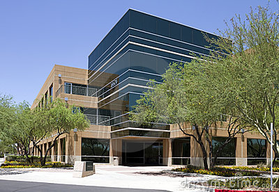 Modern corporate office building exterior