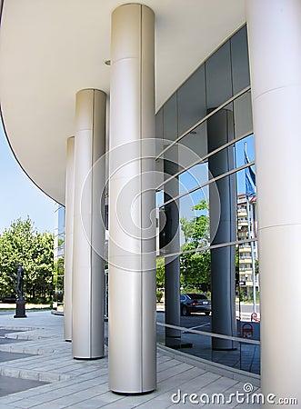 Modern Corporative Business Building Entrance