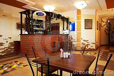 Modern and cosy cafe