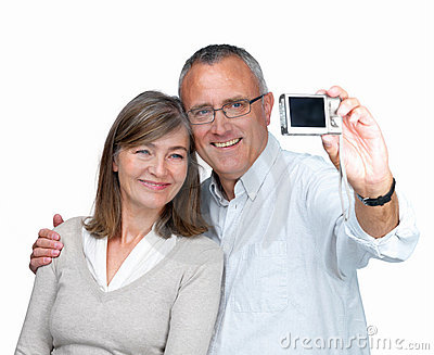 Modern couple - Taking a self portrait