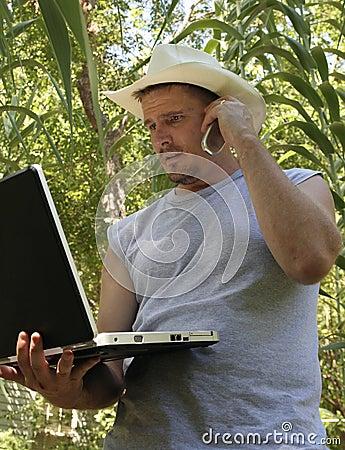 Computer in a Cornfield