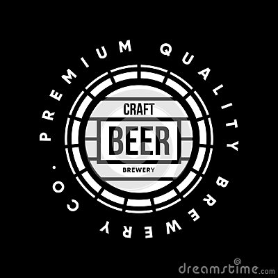 Free Modern Craft Beer Drink Vector Logo Sign For Bar, Pub Or Brewery, Isolated On Black Background Royalty Free Stock Images - 136704139