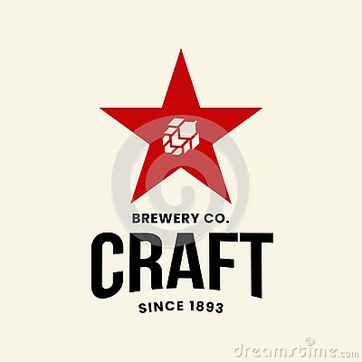 Free Modern Craft Beer Drink Vector Logo Sign For Bar, Pub, Store, Brewhouse Or Brewery Isolated On Light Background Royalty Free Stock Photography - 138844977