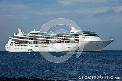 Modern cruise ship in the Caribbean